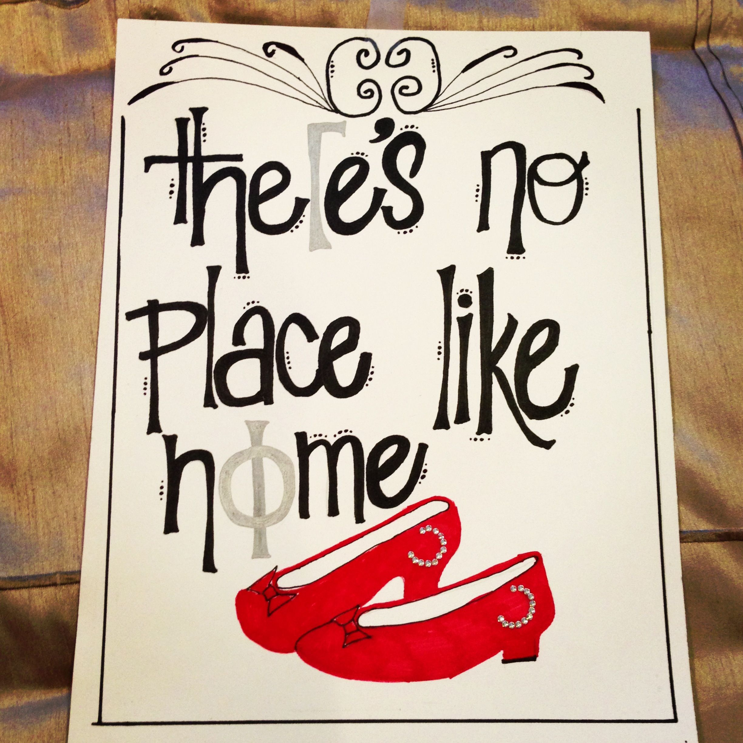 Gamma Phi Beta theres no place like home sorority craft the o
