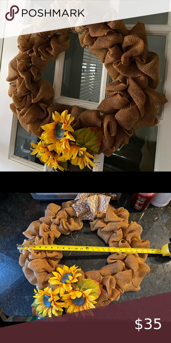 Photo of Sunflower Wreath Excellent Used Condition Other