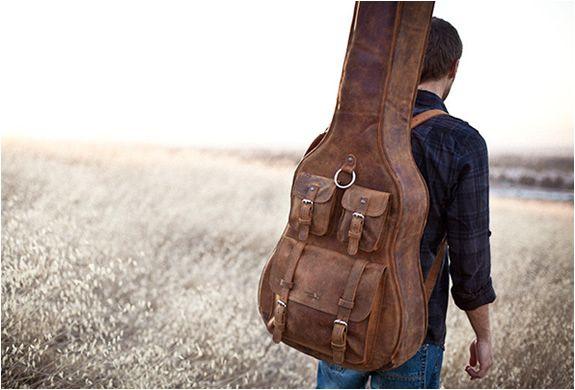 Vintage Leather Guitar Case Guitar Case Leather Guitar Bag