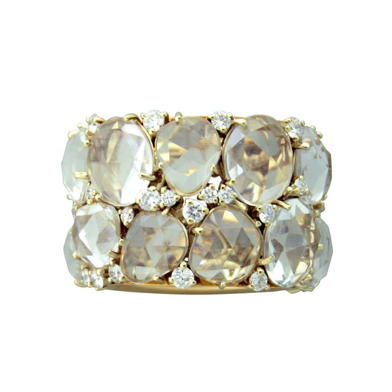 Pomellato Lulu Gold Diamond Topaz Ring   From a unique collection of vintage more rings at http://www.1stdibs.com/jewelry/rings/more-rings/