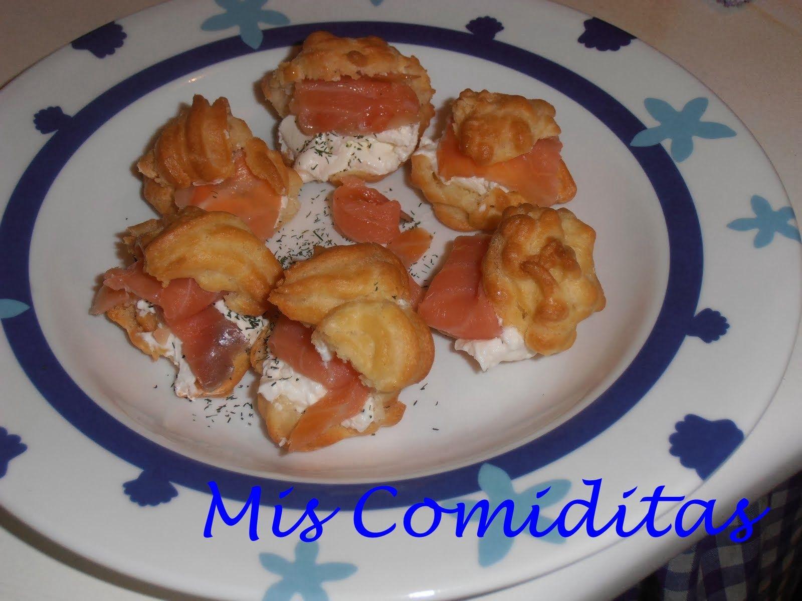 Profiteroles rellenos de jamón y queso. Descubre nuestra receta.