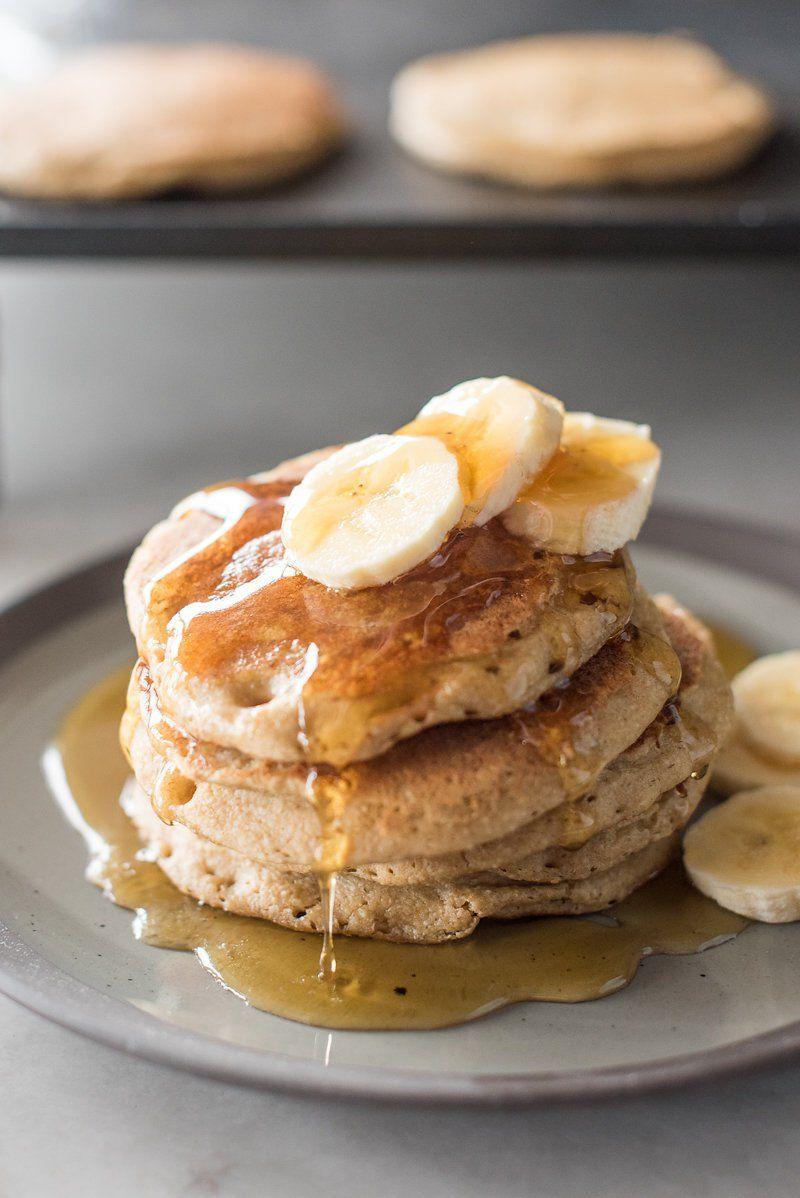 Banana-Oat Blender Pancakes   Receta