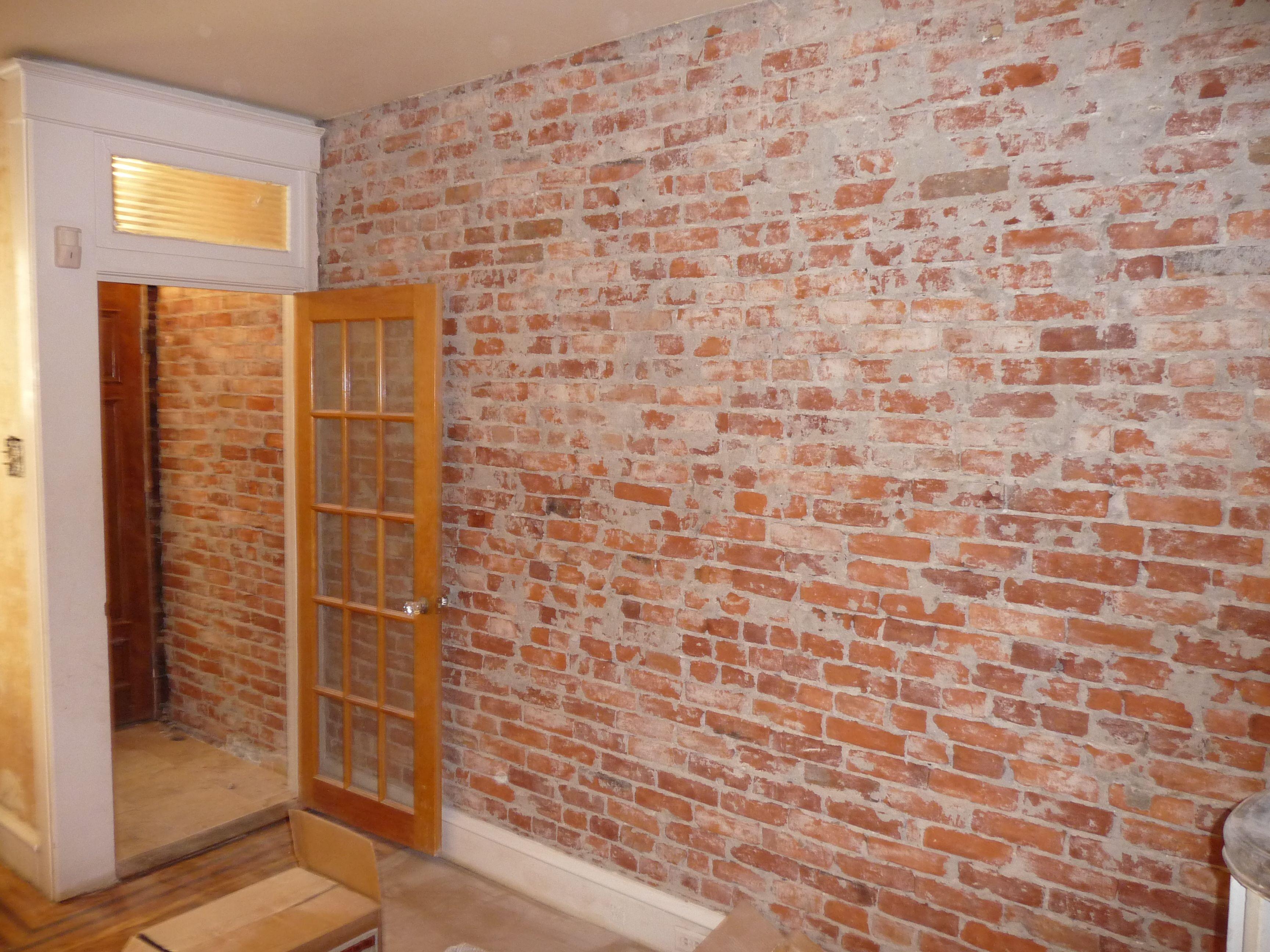 faux brick wallpaper kitchen but my kitchen is pretty tiny