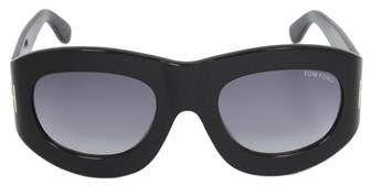 8f21551c23 Tom Ford Tom Ford Ft0403 01v Mila Oval Sunglasses