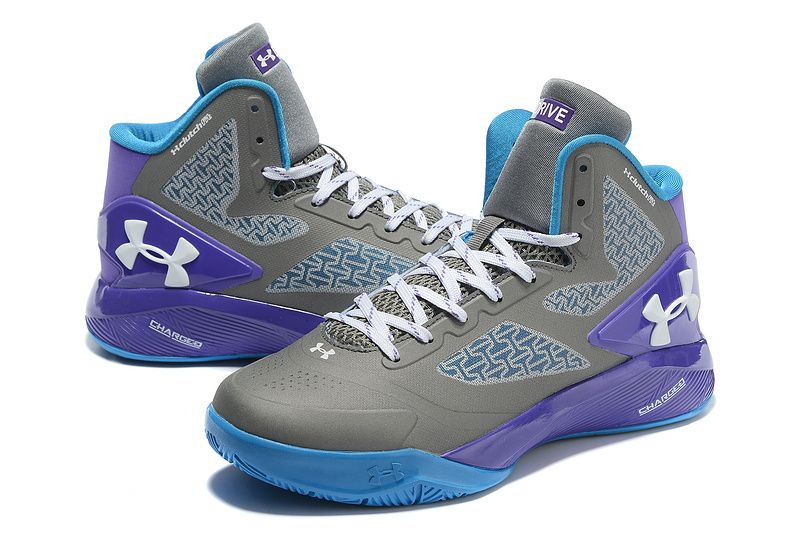 dec84e8da5dd11 Woman s Under Armour UA ClutchFit Drive 2 Basketball Shoes Grey Purple