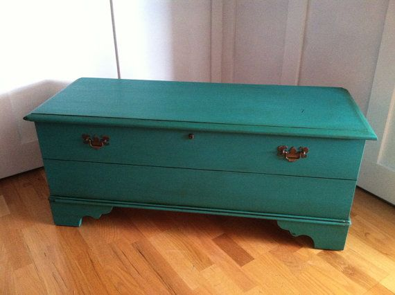 Upcycled Lane Cedar Chest Turquoise Teal Ascp Florence On Etsy 350 00 Diy Furniture Fix Furniture Fix Cedar Chest