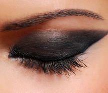 black, eye shadow, eyebrows, eyelashes, make up (Full Size)