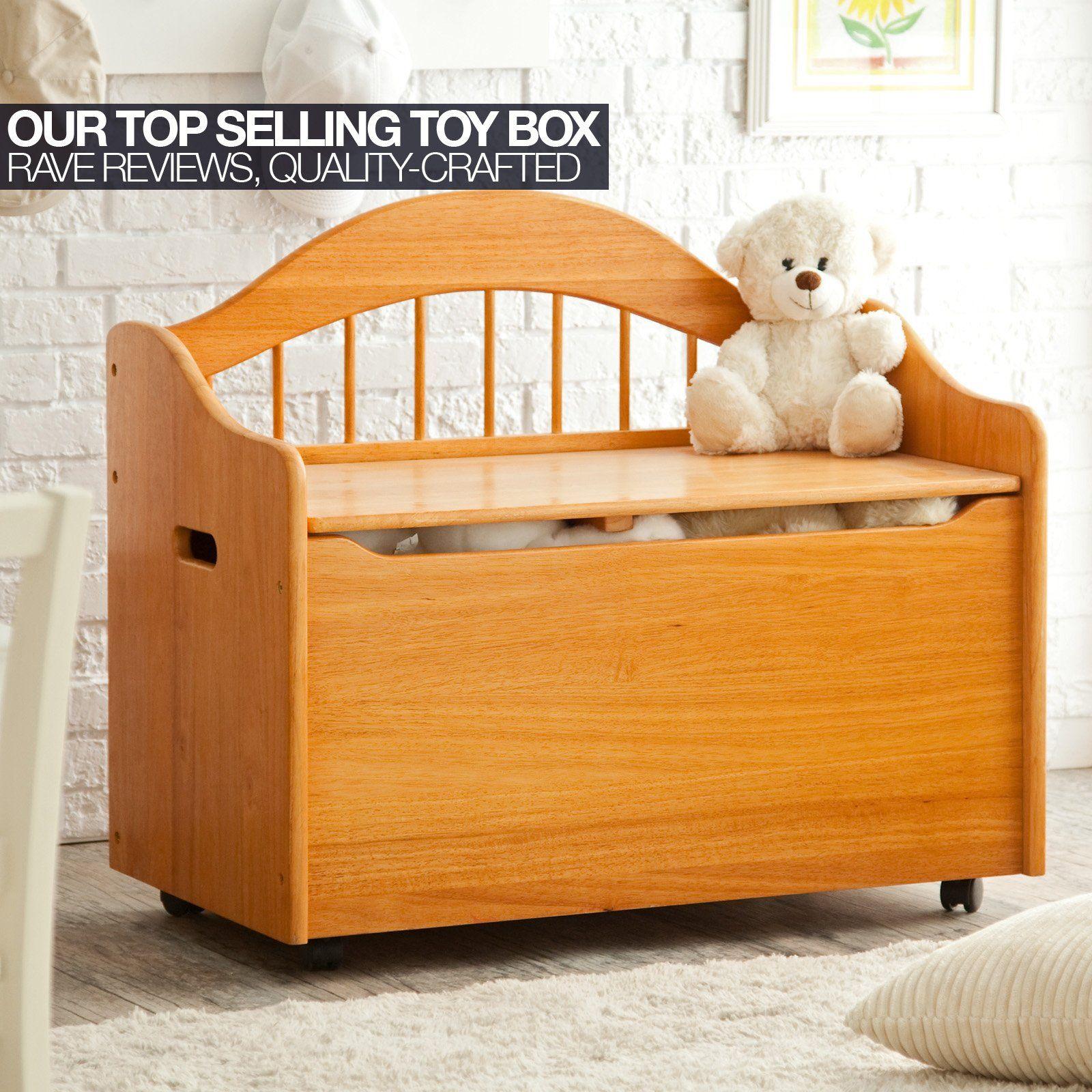 Wildkin Cherry Finish Toy Box Bench LOD33055