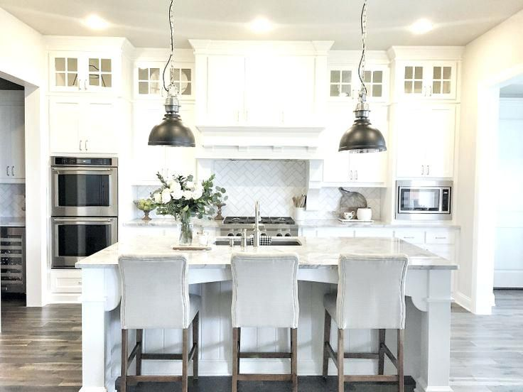 Kitchen Cabinet Height 9 Foot Ceilings White Farmhouse