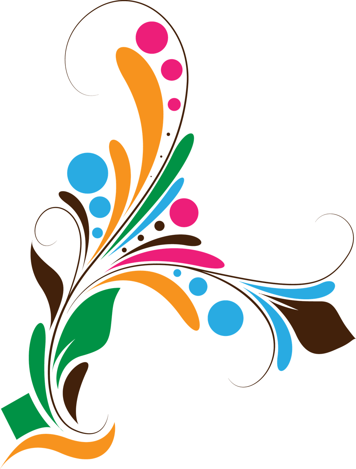 Floral Designs Vector Png