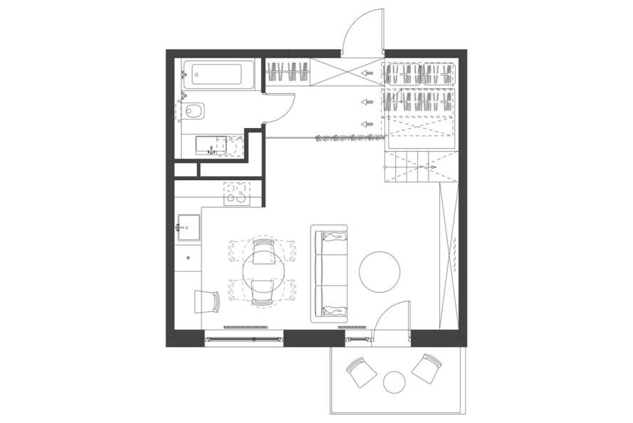 Flat 27a By Design Eight Five Two Tiny Apartments Tiny Apartment Apartment Plans