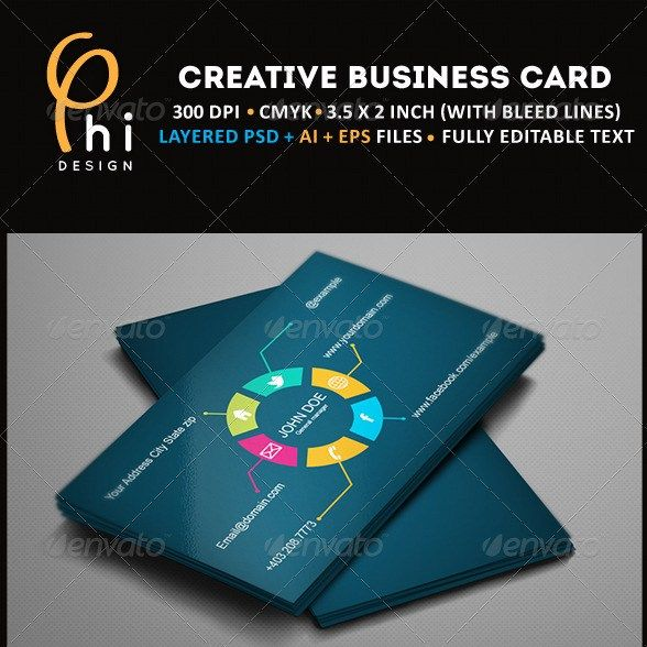 Creative Business Card Design Print Pinterest Business - Creative business card template