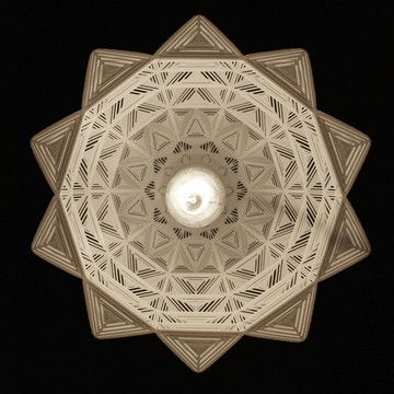 Geometrical patterned lamp (under view).