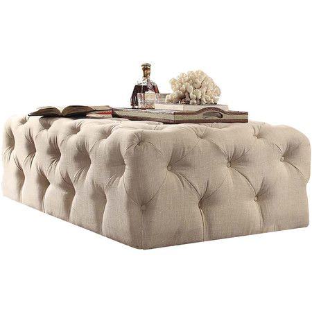 Carthusia Tufted Cocktail Ottoman in Beige at Joss and Main | home ...