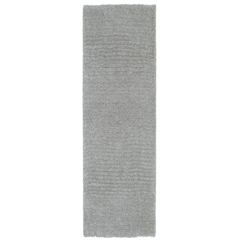 Stratus Shag Grey 2 ft. 3 in. x 8 ft. Runner