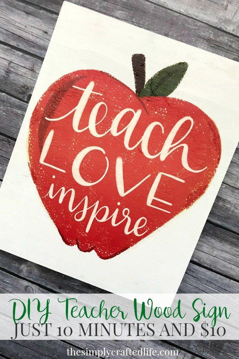 Easy Last Minute Teacher Gift Make It In Under 10 Minutes For 10 Teacher Canvas Painting Teacher Canvas Painting Diy