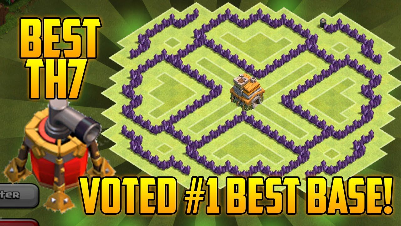 Coc Best Th7 Hybrid Base With Air Sweeper Clash Of Clans Town Hall 7 Defense 2015 Clash Of Clans Clan Best