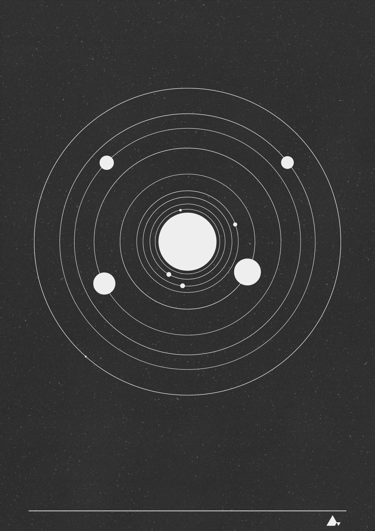Solar System 3 Art print design Solar system tattoo
