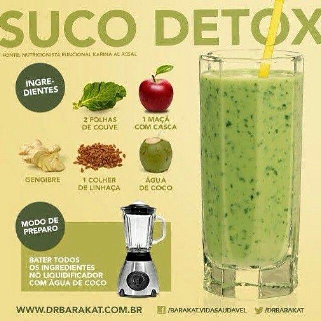 Excepcional Suco Detox - Dr Barakat | Health. Saúde. | Pinterest | Detox, Food  JK41