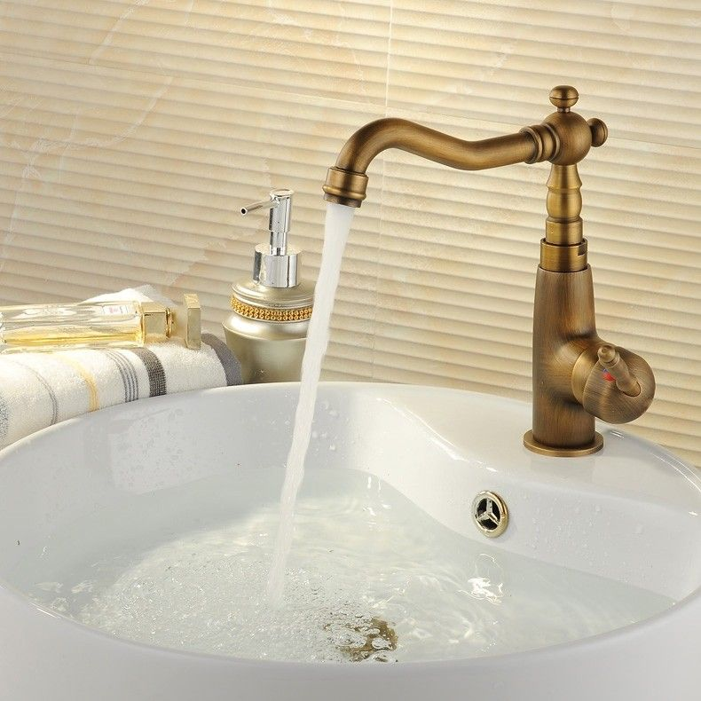 Chester Classic Style Single Handle 1 Hole Bathroom Sink Faucet