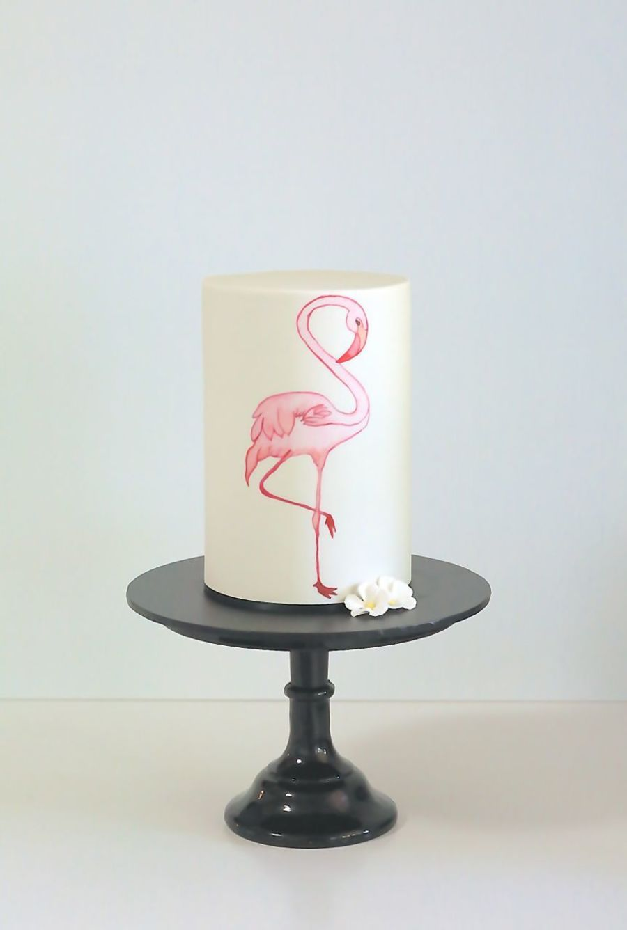 Water Colour Flamingo Cake