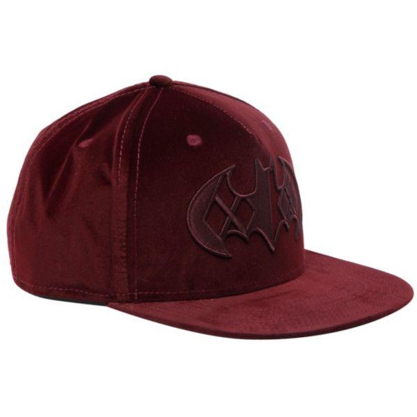DC Comics Batman Harley Quinn Logo Velvet Snapback Hat  5c6143c76f1f