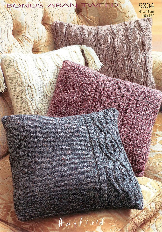 knitting | Knitted cushion covers, Knitted cushions ...