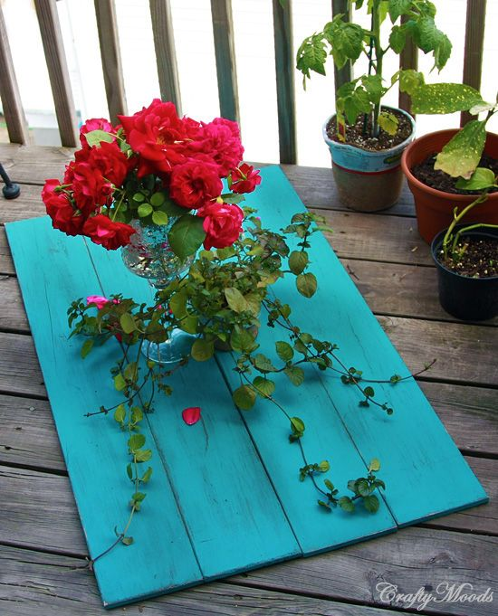 DIY Distressed Table Tops for Food Bloggers