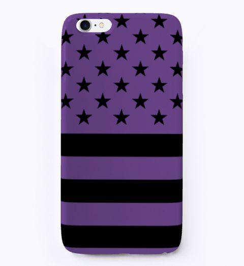 American Flag Purple Black T Shirt Front