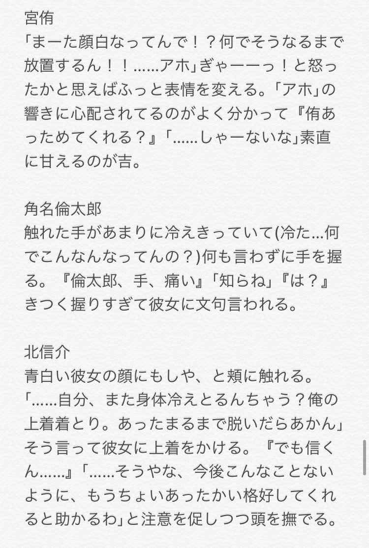 小説 彼女 夢 ハイキュー