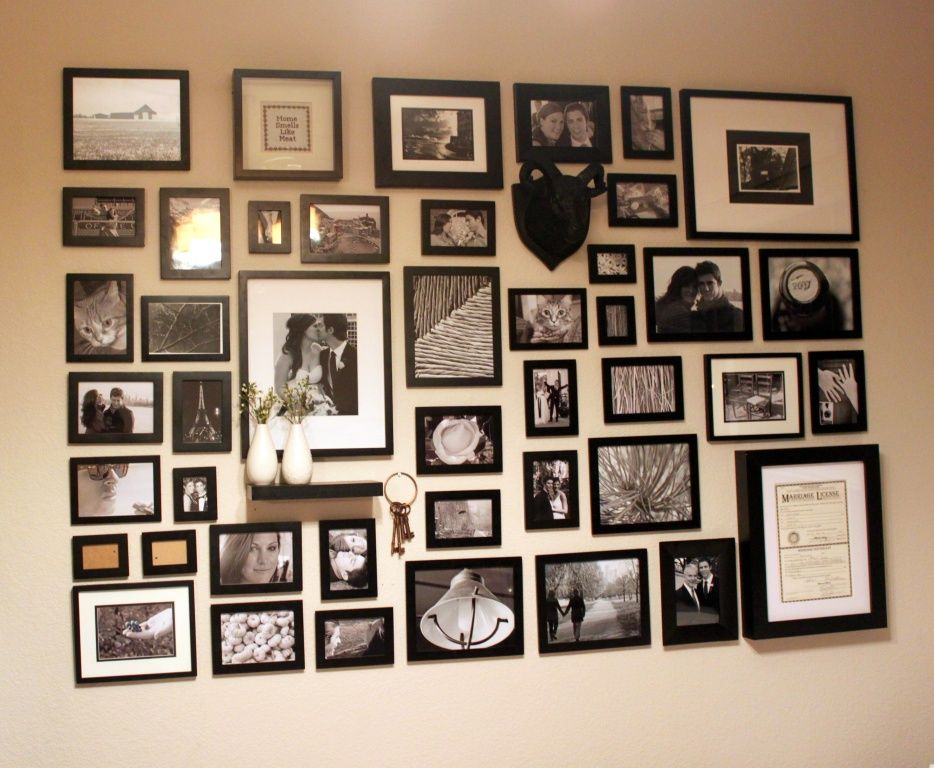 How To Hang A Photo Wall Love The Shelf Of