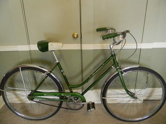 53aa8c70d57 Vintage Schwinn 3 Speed | Vintage Bicycle Schwinn Ladies 3 Speed Bike Green  by VintageBikes