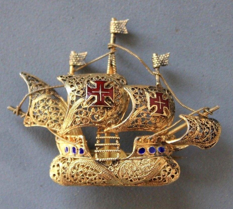 Vintage NINA, PINTA, SANTA MARIA Spanish Columbus' Ship