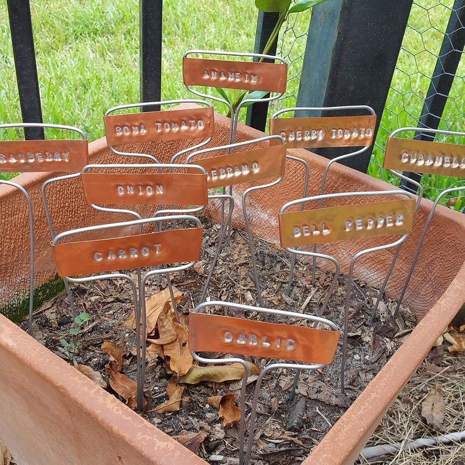 Copper Plant Markers Using 10 Mil Copper Sheeting Plant Markers Plant Labels Plants