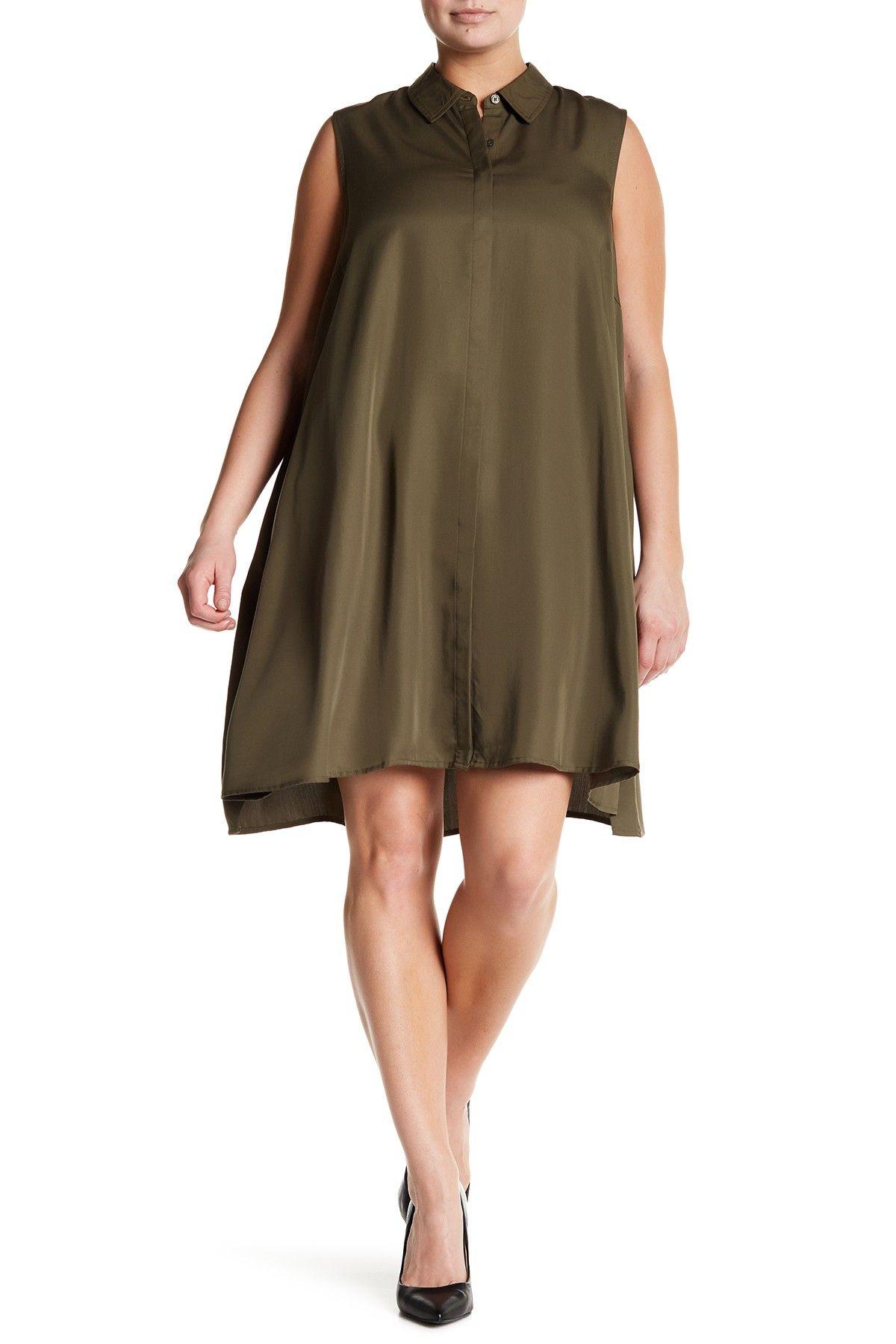 Sharagano Sleeveless Shirt Dress Plus Size Shirts Shops And