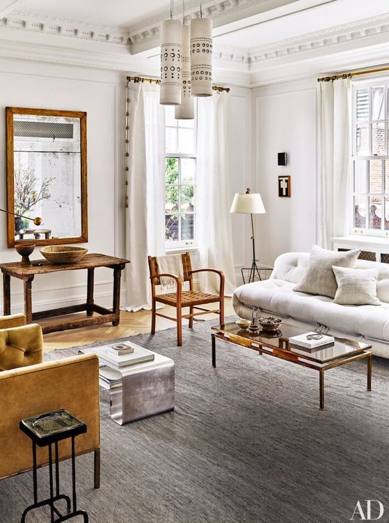 nate berkus interiors | modern living room with a rustic vibe