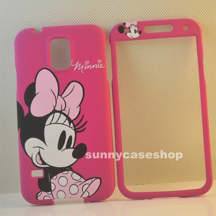 e5704e31362 samsung galaxy s5 Disney Cases   Disney Minnie Pink Bow front back case  cover for Samsung Galaxy S5 .