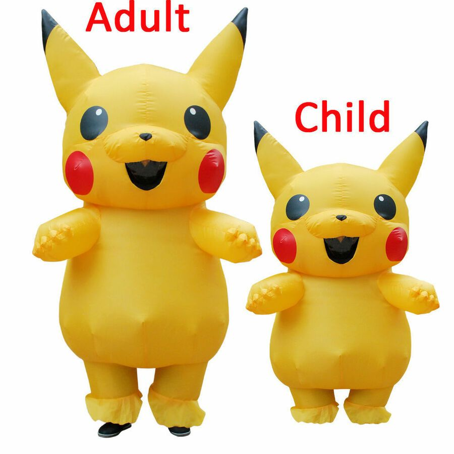 Pokemon Pikachu Inflatable Costume Cosplay Suit Funny Dress Halloween Gift