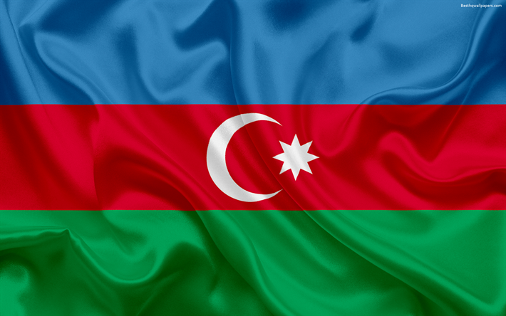 Download Wallpapers Azerbaijan Flag Asia Azerbaijan Symbols National Flag Flag Of Azerbaijan Besthqwallpapers Com Azerbaijan Flag Flag Flag Art