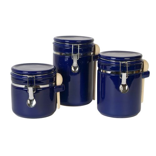 Blue Kitchen Canister Sets Aefhin