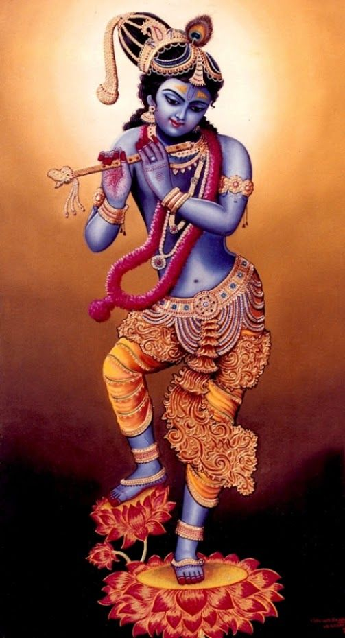 """""""May Krishna, the spiritual master of the three worlds, protect us. Continually bow down to Krishna. Krishna has killed all our enemies. Obeisances to Krishna. From Krishna alone this world has come into being. I am the servant of Krishna. This entire universe rests within Krishna. O Krishna, please protect me!"""" [ Mukunda-mala-stotra ]"""
