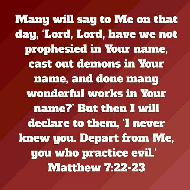Image result for matthew 7:22-23