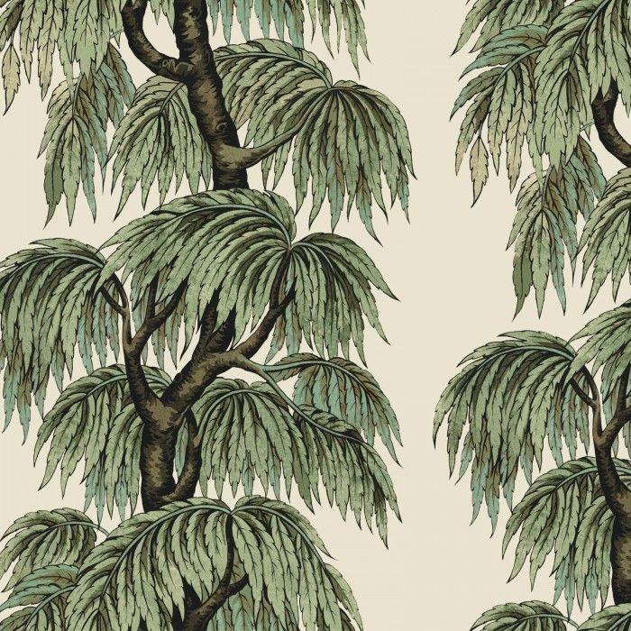 BABYLON Wallpaper Blush / Willow House of Hackney