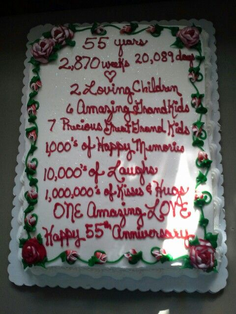 The Cake I Designed For My Parents 55th Wedding Anniversary My