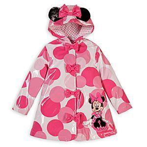 Disney Minnie Mouse Rain Jacket for Toddler Girls | Disney ...