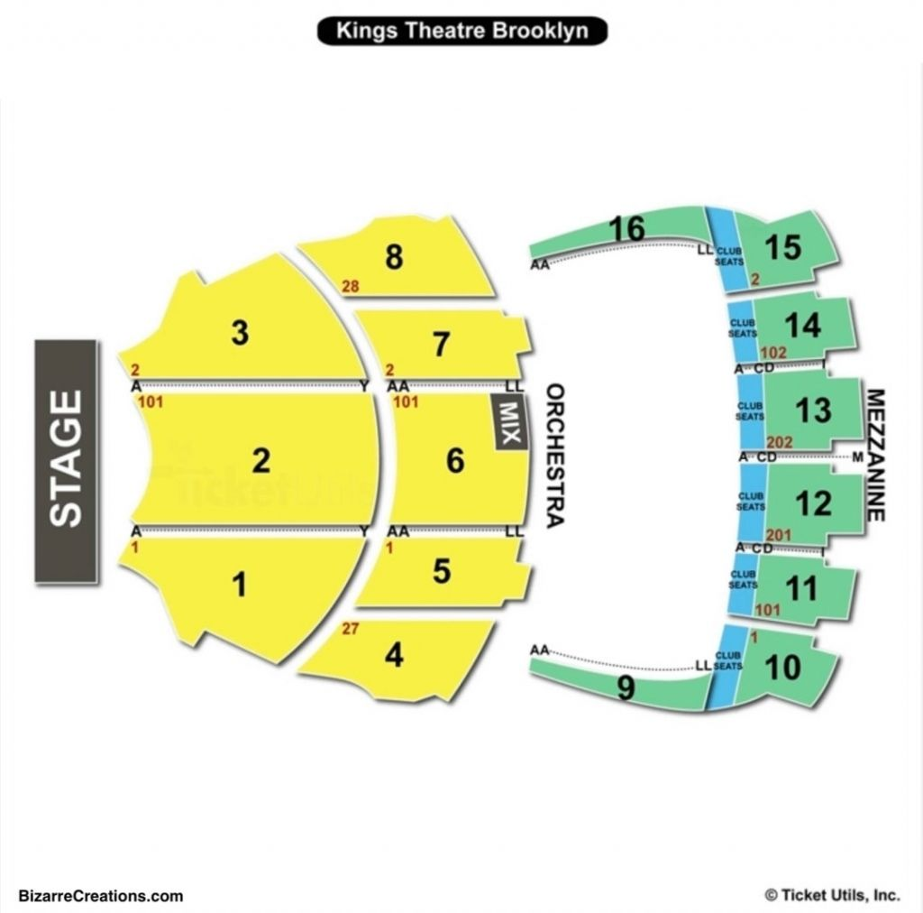 Incredible And Attractive Kings Theatre Brooklyn Seating Chart In 2020 Seating Plan Theater Seating The Incredibles