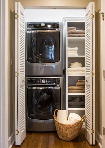 Linen Closet In Laundry Room Small Laundry Rooms Basement