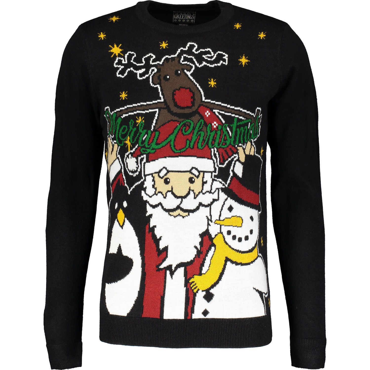 big collection fast color luxuriant in design Black Christmas Jumper - Men's Christmas Jumpers - Christmas ...