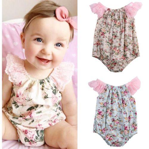 2016 مولود جديد الفتيات ملابس الصيف زهرة الطفل بنات داخلية 0 24 متر الوليد الرضع دارى Baby Girl Outfits Newborn Baby Clothes Patterns Baby Girl Outfits Summer