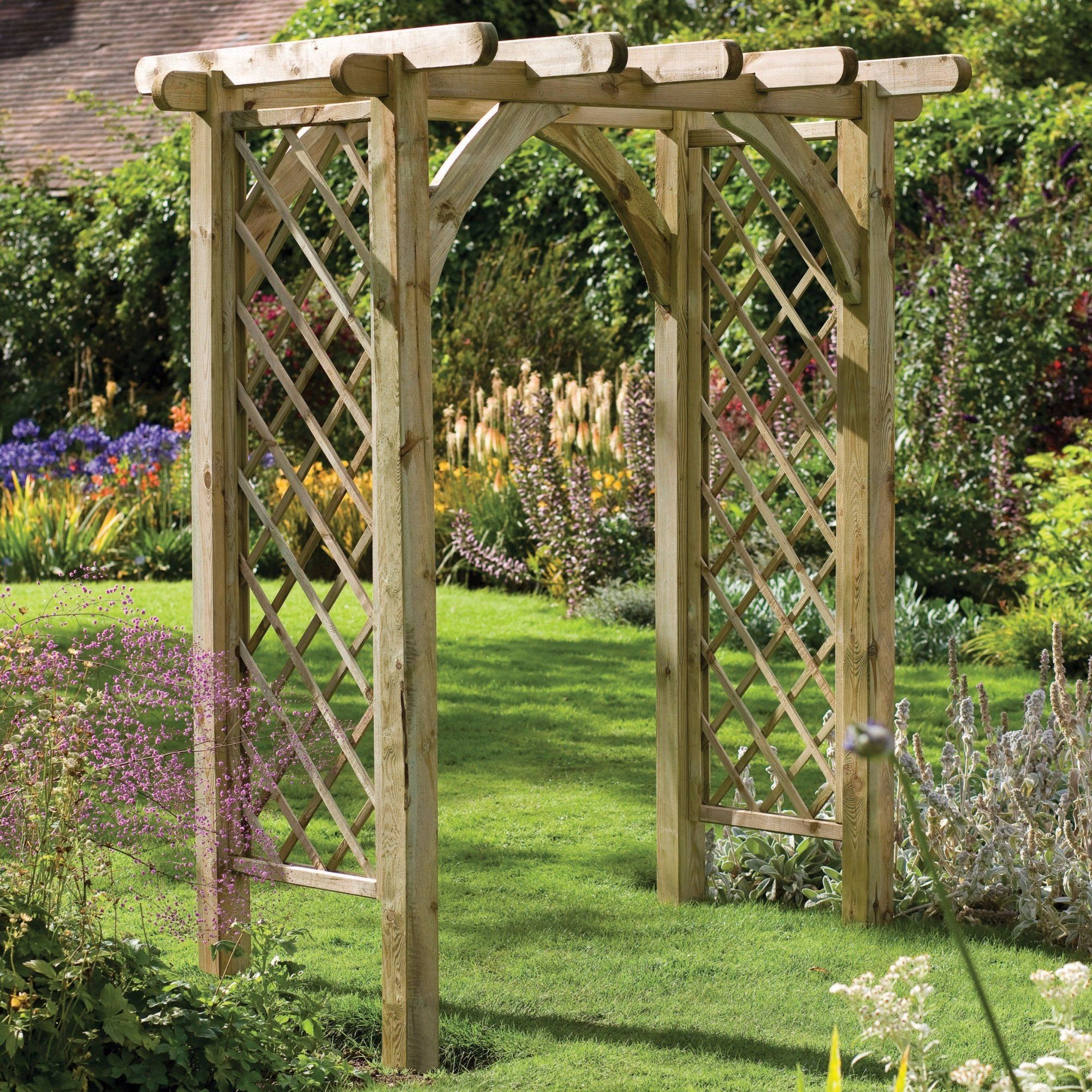 ultima pergola arch from forest garden products